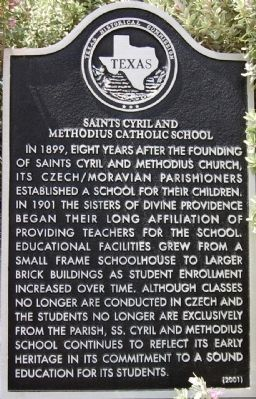 Saints Cyril and Methodius Catholic School Marker image. Click for full size.