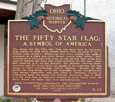The Fifty Star Flag Marker image. Click for full size.