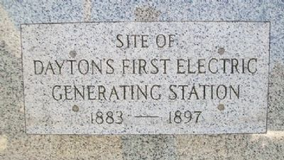 Site of Dayton's First Electric Generating Station image. Click for full size.