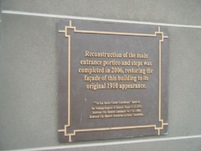 Plaque Mounted to the Right of the Entrance Doors Photo, Click for full size