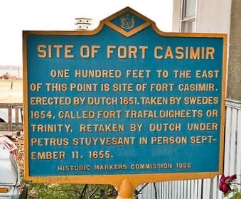 Site of Fort Casimir Marker Photo, Click for full size