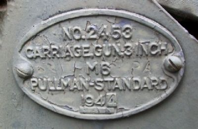 3 Inch Gun Carriage Plate image. Click for full size.
