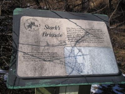 Stark�s Brigade Marker Photo, Click for full size