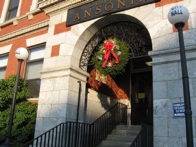 The Entrance of Ansonia City Hall image. Click for full size.