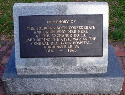 In Memory of the Soldiers, Both Confederate and Union Marker image. Click for full size.