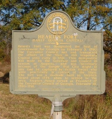 Heard's Fort Marker image. Click for full size.