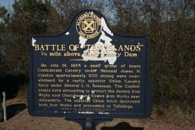 "Battle of ""Ten Islands"" Marker Photo, Click for full size"