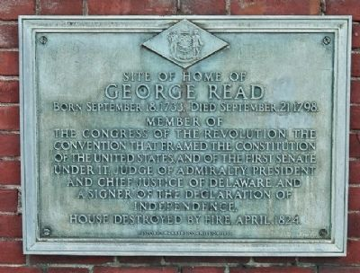 Home of George Read Marker image. Click for full size.