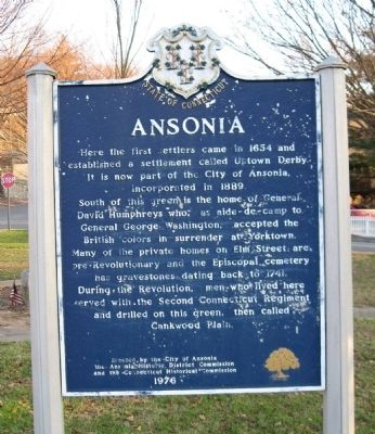 Ansonia Marker image. Click for full size.