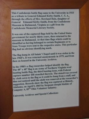 Confederate Battle Flag document image. Click for full size.