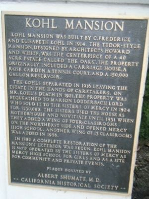 Kohl Mansion Marker image. Click for full size.