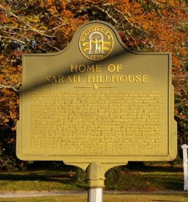 Home of Sarah Hillhouse Marker image. Click for full size.