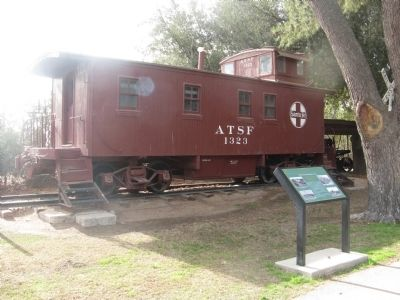 Santa Fe Caboose #1323 and Marker image. Click for full size.