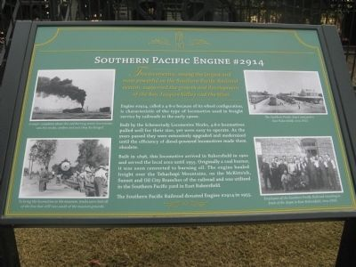 Southern Pacific Engine #2914 Marker Photo, Click for full size
