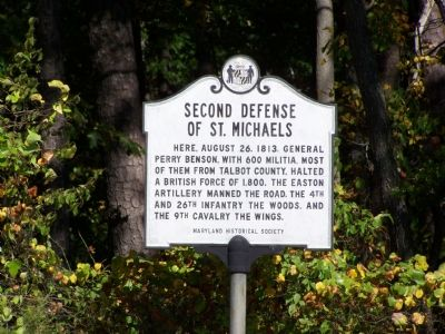 Second Defense of St. Michaels Marker image. Click for full size.