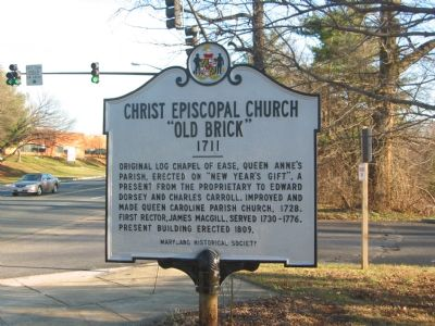 "Christ Episcopal Church ""Old Brick"" Marker Photo, Click for full size"