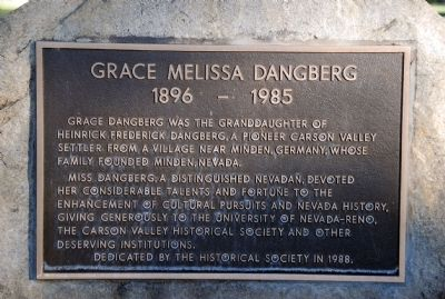 Grace Melissa Dangberg Marker image. Click for full size.
