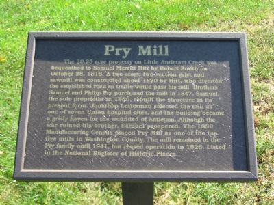 Pry Mill Marker image. Click for full size.