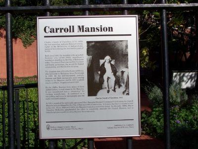 Carroll Mansion Marker image. Click for full size.