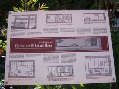Discription of Charles Carroll's Lot & House image. Click for full size.