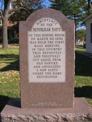 Birthplace of the Republican Party Marker image. Click for full size.