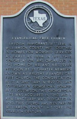 Evangelical Free Church Marker image. Click for full size.