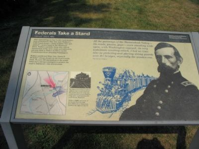 Federals Take a Stand Marker Photo, Click for full size