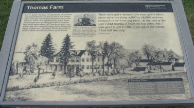 Thomas Farm Marker image. Click for full size.
