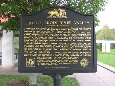 The St. Croix River Valley Face of Marker Photo, Click for full size