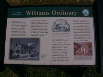 Colonial Dumfries - Williams Ordinary Marker image. Click for full size.