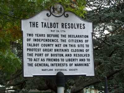 The Talbot Resolves Marker Photo, Click for full size
