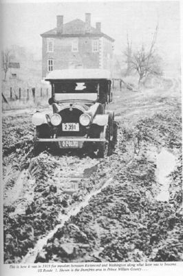 Route 1 in 1919, with Williams Ordinary in the Background. image. Click for full size.