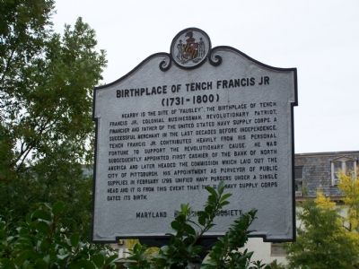 Birthplace of Tench Francis, Jr. Marker Photo, Click for full size