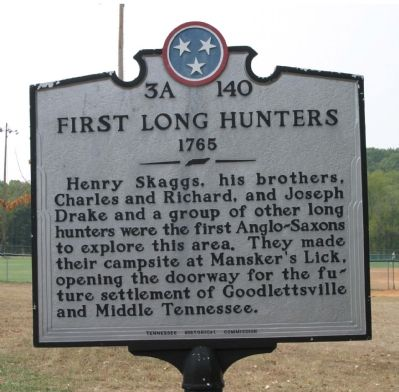 First Long Hunters Marker image. Click for full size.