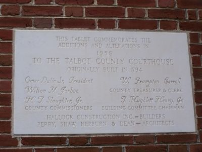 Talbot County Courthouse Marker image. Click for full size.