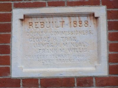 Wall Marker on Courthouse image. Click for full size.