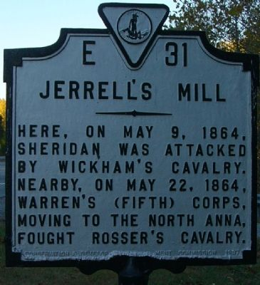 Jerrell's Mill Marker image. Click for full size.