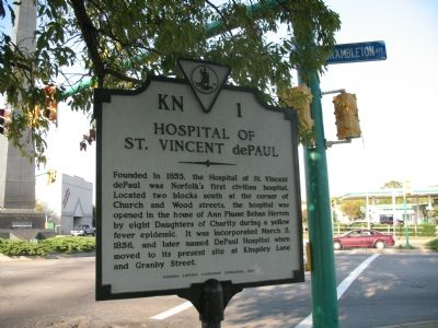 Hospital of St. Vincent dePaul Marker image. Click for full size.