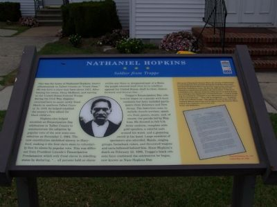 Nathaniel Hopkins Marker Photo, Click for full size