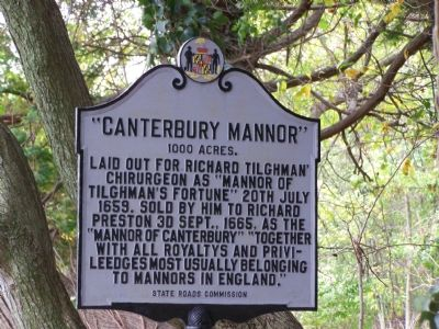 """Canterbury Manor"" 1000 Acres Marker image. Click for full size."