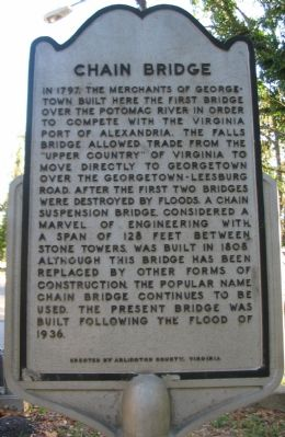 Chain Bridge Marker Photo, Click for full size