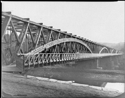 Chain Bridge as it Looked in the Civil War Photo, Click for full size