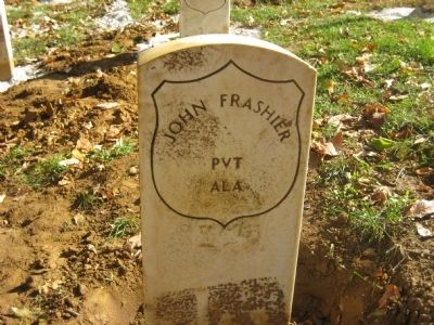John Frashier Grave Marker Photo, Click for full size