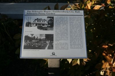 The Schwartz House Marker image. Click for full size.