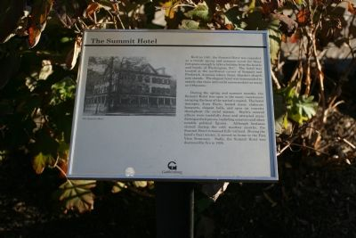 The Summit Hotel marker image. Click for full size.