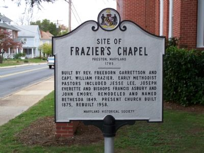 Site of Frazier's Chapel Marker image. Click for full size.