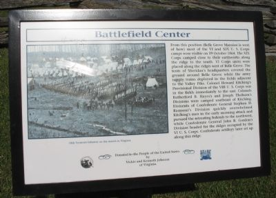 Battlefield Center Marker image. Click for full size.