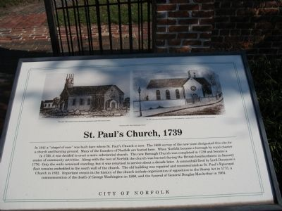 St. Paul's Church, 1739 Marker Photo, Click for full size