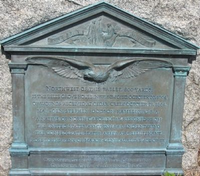 Ramseur Monument Marker image. Click for full size.