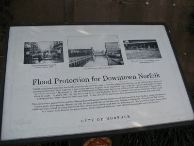 Flood Protection for Downtown Norfolk Marker image. Click for full size.